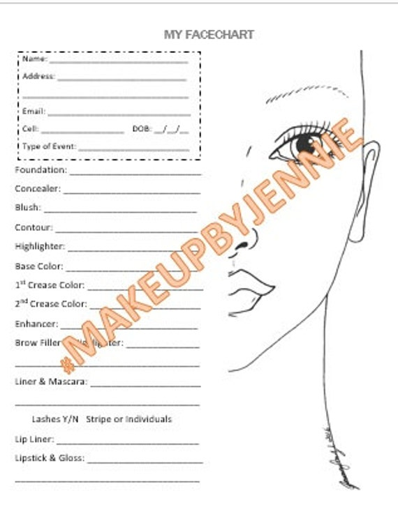 Makeup Face Sheet Makeupview