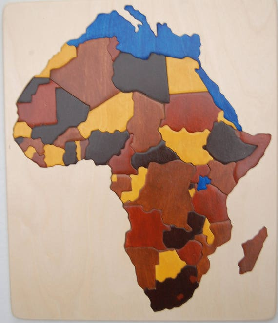 Chunky piece wooden map puzzle of africa an educational and gumiabroncs Image collections