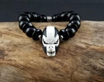 Custom Crossbones Beaded Bracelet