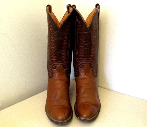 Boot size B Lama 10 Tony Cowboy Cowgirl size Vintage 5 12 or O0IwtqwF