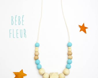 Montessori necklace teething necklace personalized carrying and nursing necklace