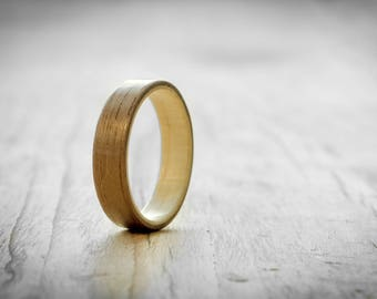 Mens wood ring, Walnut and maple bentwood ring, Womens wood ring,  Bentwood ring, Wood ring, Wood wedding ring, Handmade wood ring