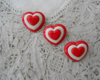 Vintage Heart brooch x 3