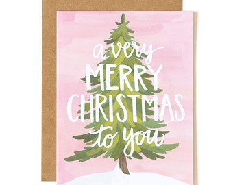 Very Merry Christmas To You Illustrated Card//1canoe2