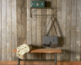 Modern Industry Reclaimed Wood Bench