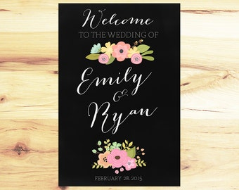 Floral Chalkboard Welcome Sign!