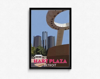 Hart Plaza, Detroit 11x17 Print
