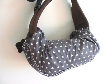 Baby carrier pod/bag/sack/storage  for  Ergo, Tula, Boba, Beco, Manduca, etc...-Triangle In Grey