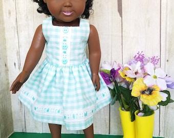 Cute Aqua Dress for 18-Inch Dolls!