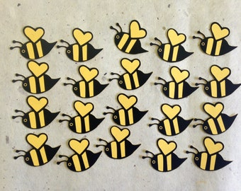 Bumblebees/honeybees cutouts for scrapbooks/party decor
