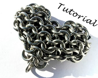 Chainmail Heart Tutorial- Chainmail Heart Pattern- Learn How to Make Your Own Chainmail Heart!