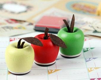 Cute DIY Crafts Apple Design Wooden Rubber Stamp / Stamp Set