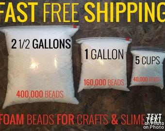STYROFOAM BALLS for slime choose from 3 different sizes FOAM bead bag sizes