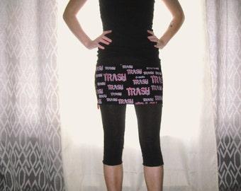 Trash Zipper Mini Skirt Small/Medium by Vicmes Clothing