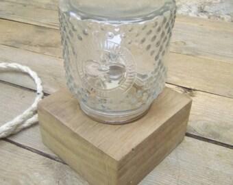 Table en bocal en verre claire