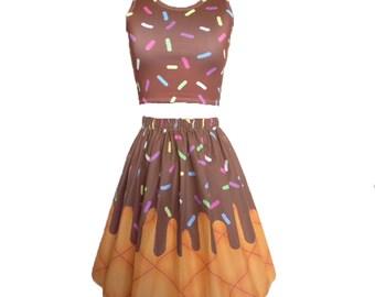 Chocolate Ice Cream Skirt