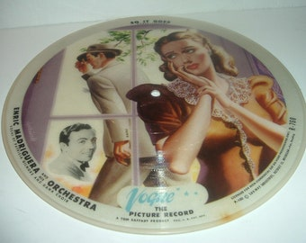 2 Sided Vintage Vogue Picture Record R760 So It Goes and The Minute Samba