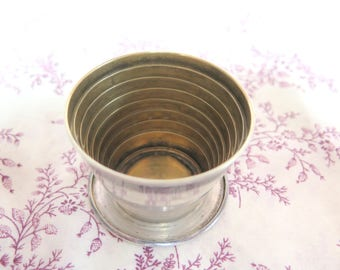 Engraved Sterling Silver Collapsable Cup