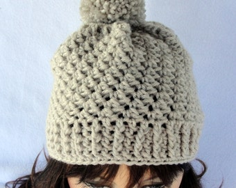 Crochet hat pattern, crochet beanie pattern, Roxbury Beanie Hat Pattern