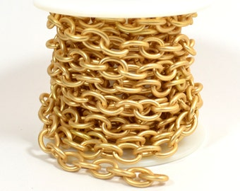 Medium Heavy Cable Chain - Matte Gold - CH54 - Choose Your Length