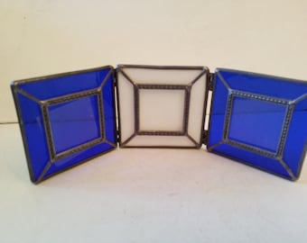 3 stain glass frames