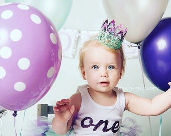 1st Birthday Dress | Birthday Tutu | Cake Smash Tutu | Mint and Purple