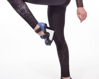 Witchy, limited edition, artist designed,  printed leggings, yoga pants, handmade  by Plastik Wrap. All sizes