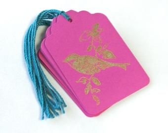 Gold Bird Gift Tag 20 Handmade Wedding Wish Tree Merchandise Tags Blank