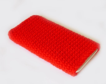 Crochet Phone Case, Phone Cover, Handmade Crochet Mobile Phone Pouch Holder Sleeve, Phone Accessory, Gift for Anybody, ANY SIZE
