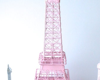 Eiffel Tower Pink Centerpiece Shabby Chic