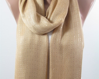 Mothers Day Gift For Her Sparkle Scarf Camel Scarf Mom Scarf Fall Winter Spring Scarf Women Fashion Accessories   For Mom