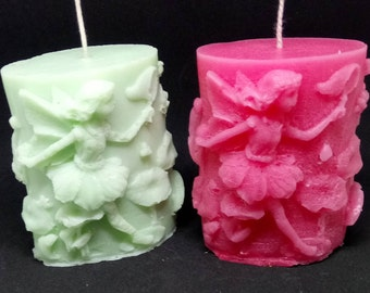 set of two fairy tale candles