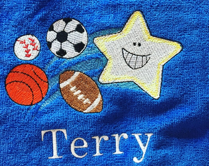 personalized beach towels perfect for kids and adults, out of purple