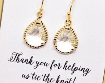 Drop Earrings Bridesmaid Earrings Rose Gold Bridesmaid Gift