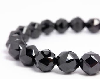 8mm Black Spinel Stretch Bracelet