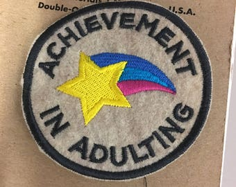 Achievement in Adulting Embroidered Patch