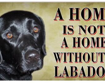 Vintage Labrador Dog Sign 8x14