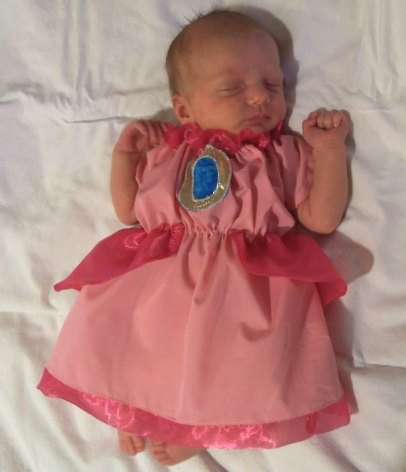 Princess Peach or Daisy Infant costume dress newborn through