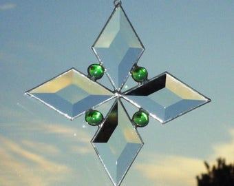 Beveled Glass Stained Glass Suncatcher Star 2