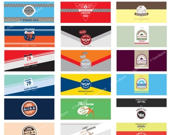 Vintage Oil Can Wrappers (PDF file only)