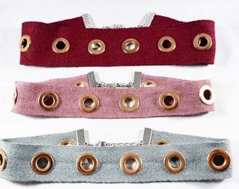 MASAKALI CHOKER, Choker Necklace, Festival Choker Necklace, Eyelet Choker Necklace