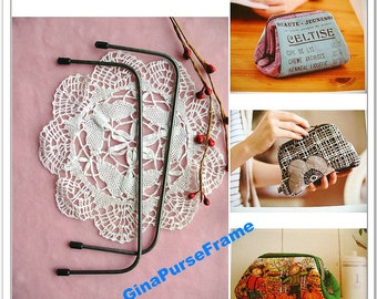 2set-15cm (6inch) Square purse metal frame Bag frame // for purse bag pouch making // ON SALE