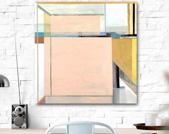 Pale Abstraction. Original painting. Original art, abstract art, geometric, wall decor.