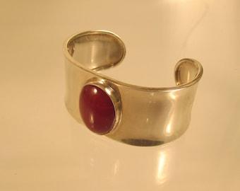 Carnelian Cuff Bracelet Sterling  @ A Village Coin Bullion 11/22/9 B
