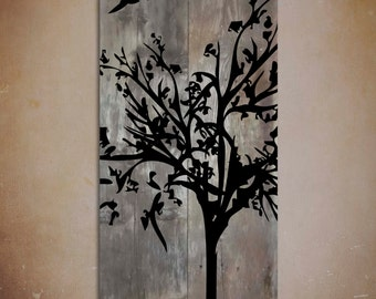 Reclaimed Barn Wood Wall Art — Rustic Painting