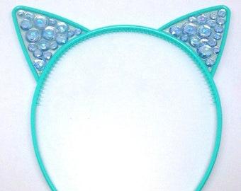 Turquoise Bubble Kat Headband