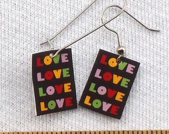 LOVE word Earrings