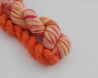 LOVE SOCK self-striping, 002, merino nylon sock yarn,100g