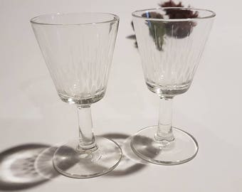 Pair of French Vintage Liqueur Glasses