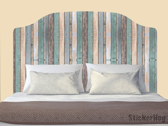 Distressed Colored Fence Decal Headboard by StickerHog